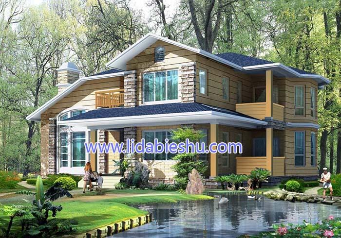 私人别墅-美式风格-348㎡